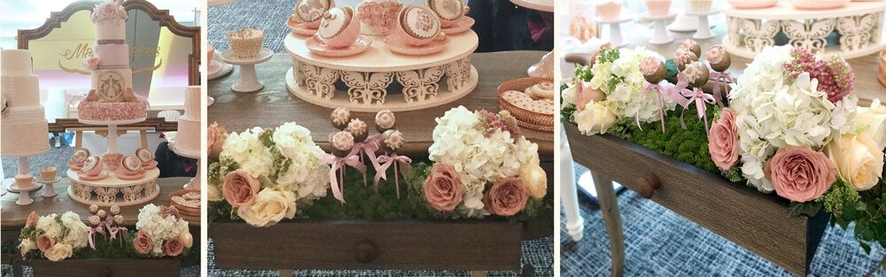 Customised wedding cake tables and stands themed to match your cake