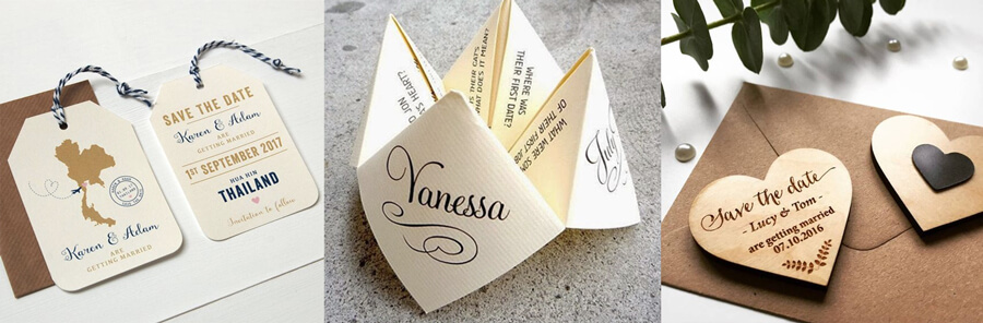 Creative ideas for wedding invitations