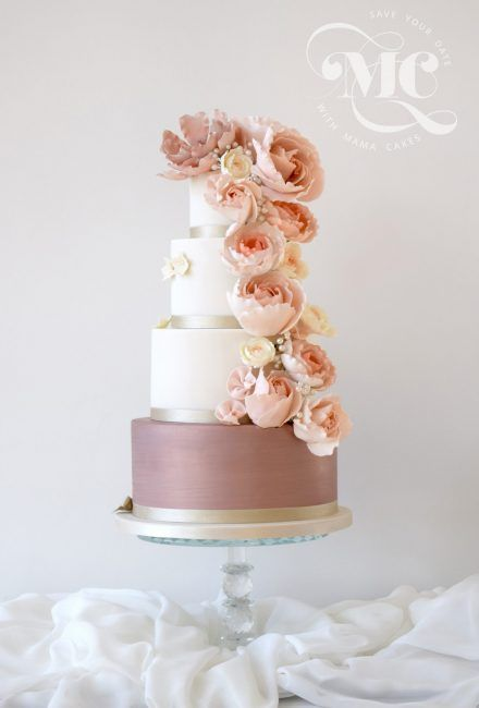 Floral cascade Wedding Cake by Mama Cakes 1