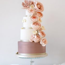Floral cascade Wedding Cake by Mama Cakes