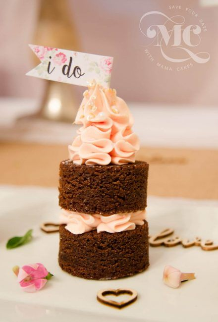 Mini Nakes Wedding Cakes by Mama Cakes Cumbria