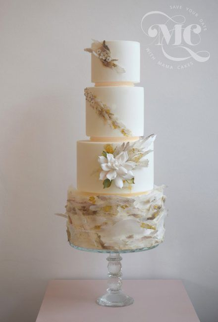 Wafer Paper Wedding Cake by Mama Cakes Cumbria 1