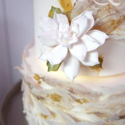 Wafer Paper Wedding Cake by Mama Cakes Cumbria 3