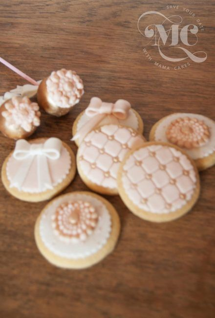 Wedding Decorated Biscuits by Mama Cakes Cumbria