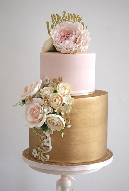 Mama Cakes Glamorous Metallic Wedding Cakes