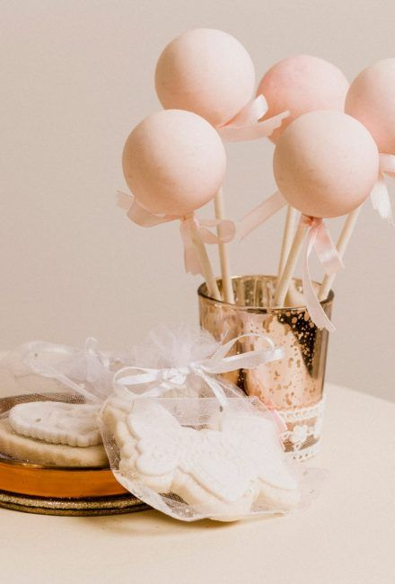 Wedding Decorated Biscuits and Cake Pops by Mama Cakes Cumbria