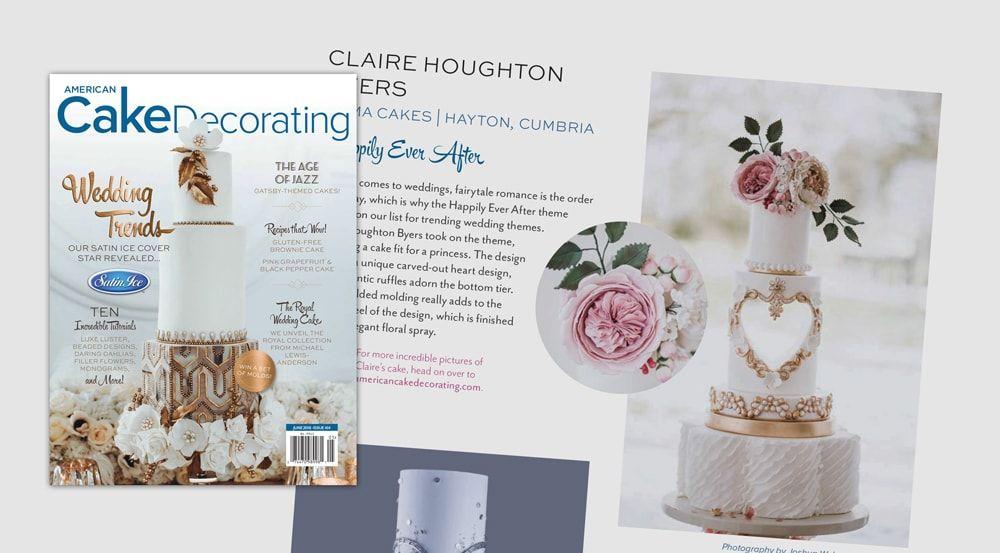 Mama Cakes Cumbria featured in American Cake Decorating Magazine - June 2018