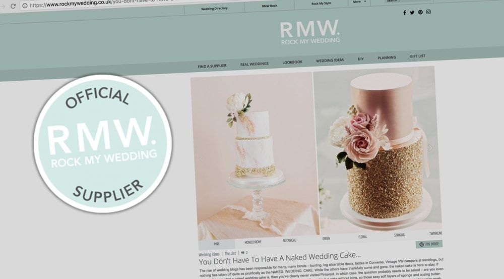 Mama Cakes featured in Rock My Wedding - April 2018