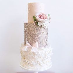 Gold-Sequins-Pink-Wedding-Cake-by-Mama-Cakes-Cumbria