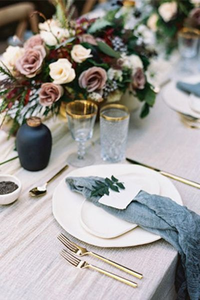 Navy and Dust Pink Wedding Decor