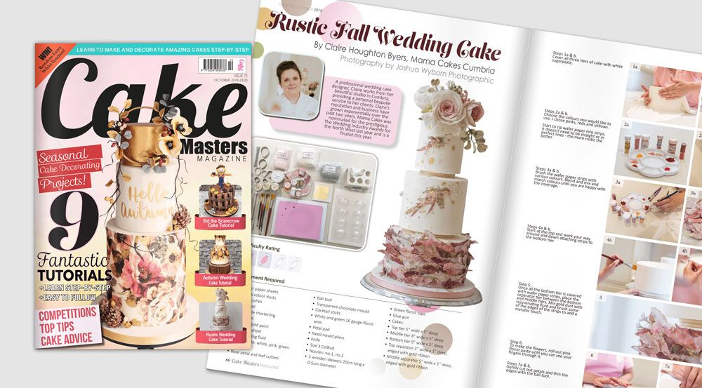 Mama Cakes Cumbria featured in Cake Masters Magazine October 2018