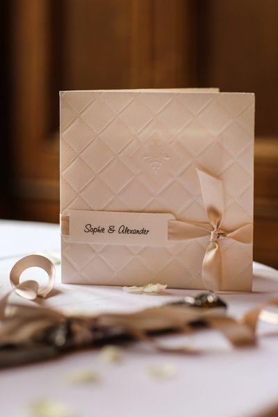 Black and mauve wedding theme - wedding invitation