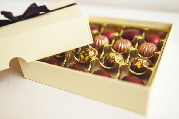Handmade Chocolates in a box. Wedding Gift or Wedding Favour. Wedding present by Mama Cakes Cumbria
